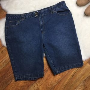 St. John's Bay stretch denim shorts